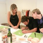 Yves Nicolier doing cooking classes