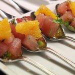 Albacore Tuna Poke, mandarin orangis, avocado