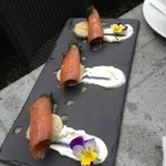 Gravadlax with blini