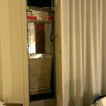 Broken door to central air