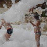 Foam fun at the pool