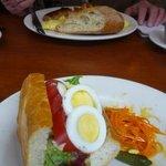 tuna/tomato/egg sandwich