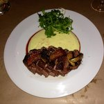 Duck with mashed potatoes and the most amazing salted apples you'll ever have... Unbelievable di