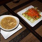 Egg drop soup & garden salad