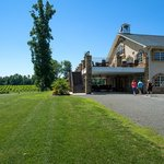 Here is the parking area of the winery