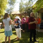 Our tour group enjoying IC wines on the grounds