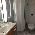 Bathroom - Modern but wierd shower setup for a 4* hotel