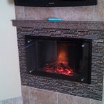 42 inch TV and elec. fireplace