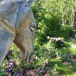 Wooden Horse in the garden