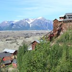 Mill Building Kennecott Mine from above. Wrangell Mts in background