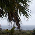 Vista desde las cabañas, en un día de tormenta.