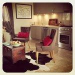 Studio kitchen and lounge area