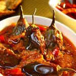Achari Baingan at Chingari - Fine dining indian restaurant