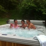 The hot tub - well used!
