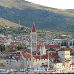 views to trogir from the terrace