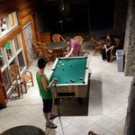 Pool table/game room area