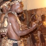 Traditional dancers entertaining guests before dinner
