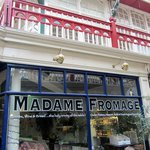 The front window of Madam Fromage Cheese Shop & Cafe