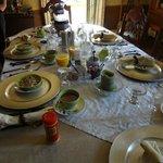 table is elegantly set
