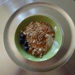 homemade granola on yogurt