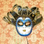 One of the masks - on the wall of the breakfast room