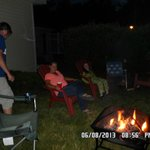 guest having fun around one of our fire pits