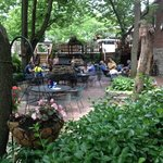 Outside dining at Old Mill Stream Inn