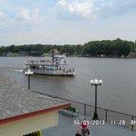 Indiana beach, you can take a big boat ride