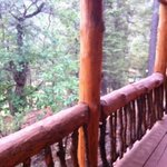 Travis Cabin - side deck