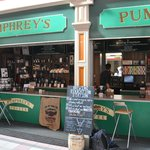 Pumphrey's Brewing Emporium. Grab a chair and order yourself a great cup of coffee.