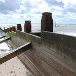 Wreck of a Viking longboat