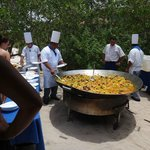 paella on the beach on our last day was delicious!