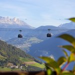 Cable Car and Dolomites scenery