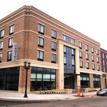 Exterior of Kent State Hotel - landscaping still being completed