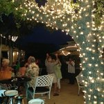 Outdoor patio at Handsome Harry's
