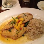 Snapper with mango brown butter sauce...delish!