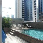 Pool on roof.