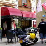 terrasse de l'hotel de la basilique à Paray le Monial