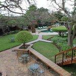 Walkway with grounds