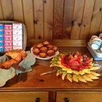 Fresh Fruit and homemade baked goods
