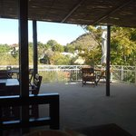 Villa Moringa, outside view from within the breakfast room