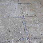 crack tiles on sun terrace