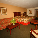 Poolside mini-suite with 2 queen beds and sleeper sofa