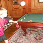 Carson playing pool with G'pa Jim
