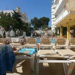 Enclosed pool area & mini bar