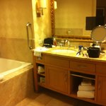 bathroom in studio strip view room