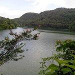 beautiful lake near hotel