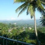 vue de la terrasse de notre chambre