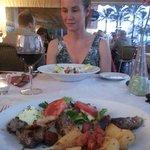 Lamb Kebab and Greek Salad