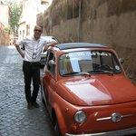 Valerio and his Fiat 500